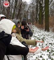 DeBocados en con los pajaritos del Parque Lazienki o de Chopin, Varsovia