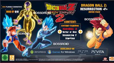Dragon Ball Z Shin Budokai 2 Mod Fukkatsu PSP PPSSPP