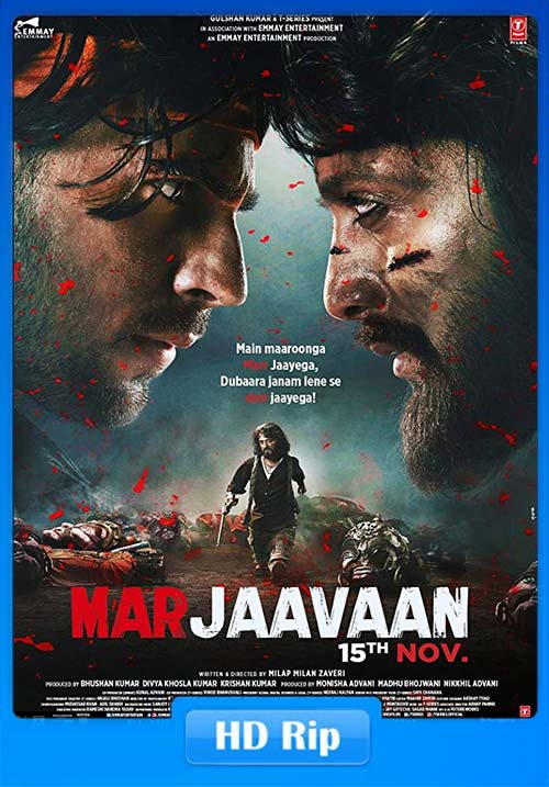 Marjaavaan 2019 Hindi 720p HDRip ESubs x264 | 480p 300MB | 100MB HEVC