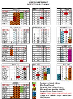 Kalender Pendidikan Nasional 2016/2017