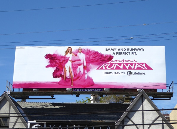 Project Runway season 14 Emmy Perfect fit billboard