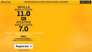 betfair supercuota victoria de Sevilla o Atlético Liga 23-10