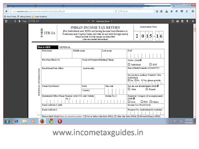 ITR 2A online Form, Excel Utility Software, Income tax form 2A