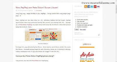 Liburan, Yuk!!! Explore Solo.. PePe 3rd Birthday winner Meanwhile U and Me