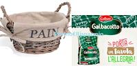 Logo Galbani Fetta Golosa ti regala il cestino portapane: vinci subito 30.000 cestini