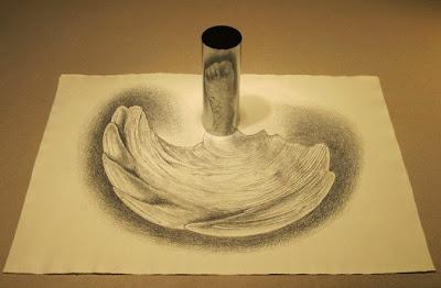 Anamorfosis usando un cilindro,