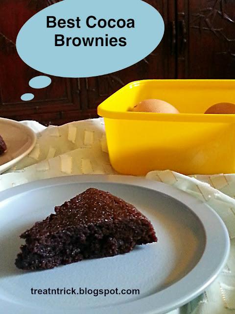 Best Cocoa Brownies Recipe @ treatntrick.blogspot.com