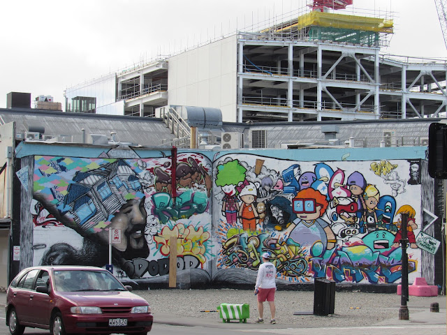 Mural de grafiti en Christchurch