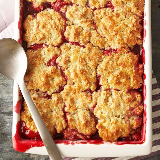 Cherry Cobbler with White Chocolate-Almond Biscuits Recipe
