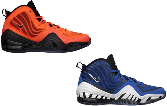 new concept 46947 0d545 These two pairs of Nike Air Penny V s are the first set to release this  year. First up is a total crimson and black colorway. This pair features a  bright ...