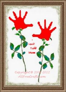 Handprint Valentines for Mom