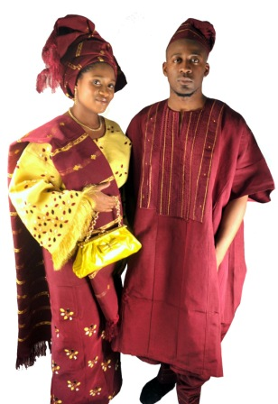 Nigerian Wedding Fashion with Aso Oke