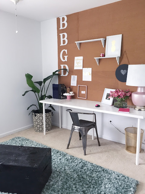 Behind the Big Green Door Beautiful Home Office Makeover #BBGD