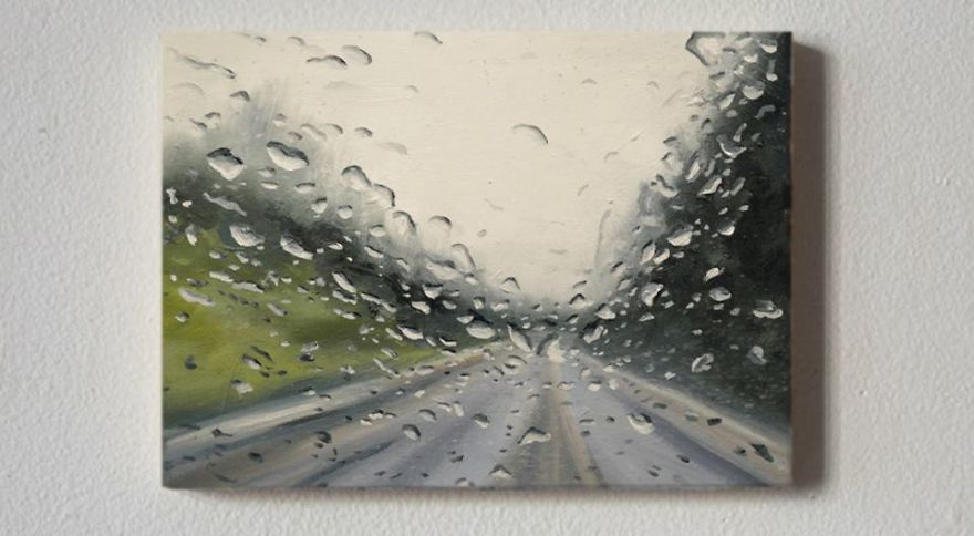 05-Francis-McCrory-Photo-Realistic-Rainy-Windshield-Paintings-www-designstack-co