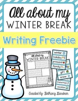 Imprimible para completar con la descripción de las vacaciones de invierno