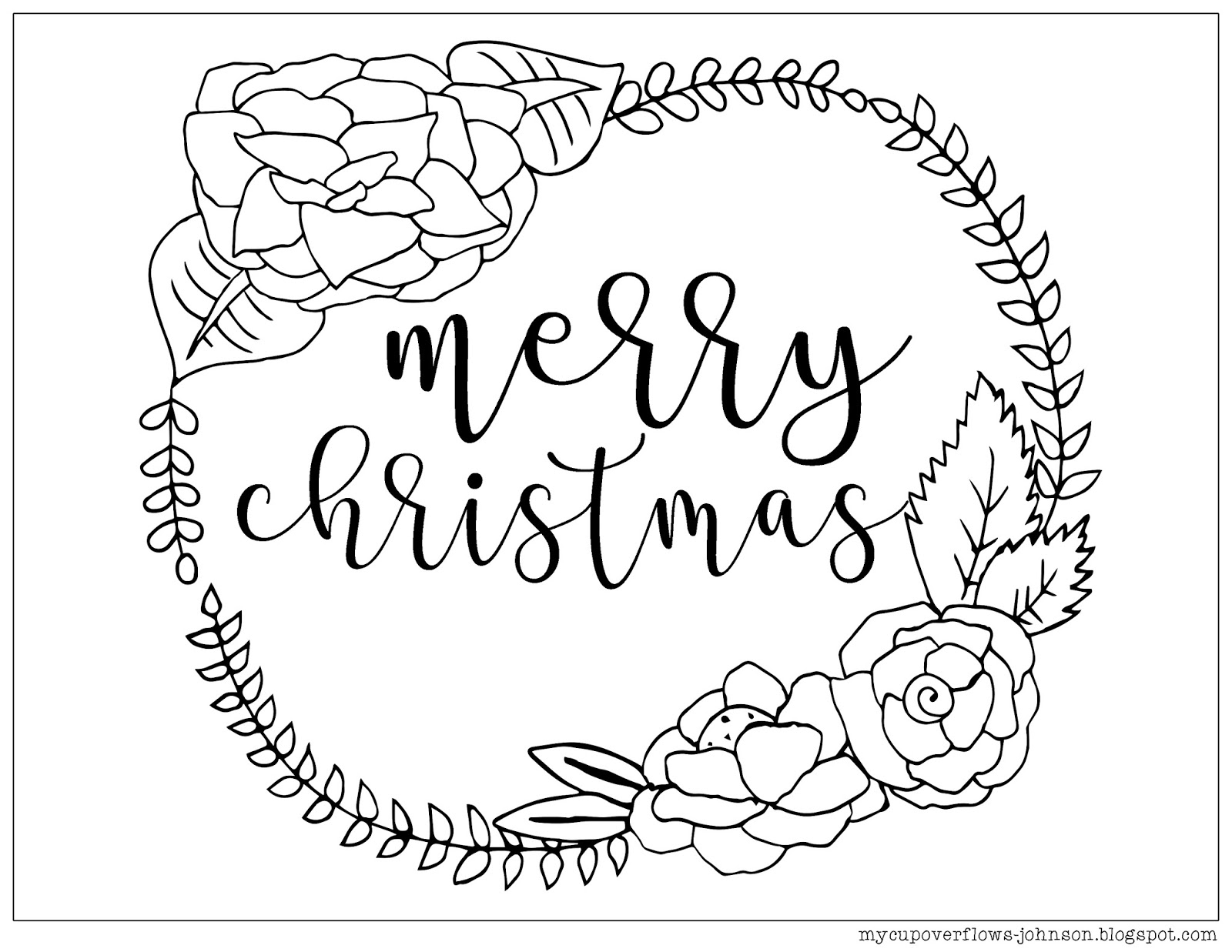 My Cup Overflows: Christmas Coloring Pages