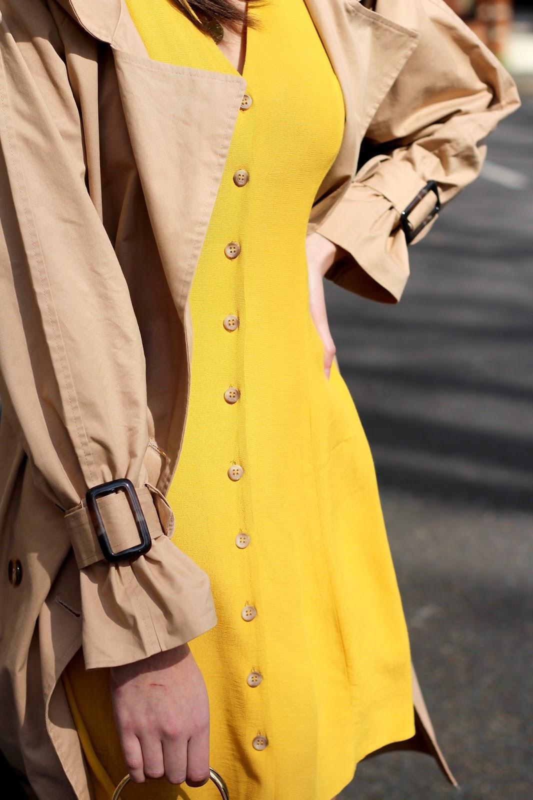 peexo mustard tea dress spring style