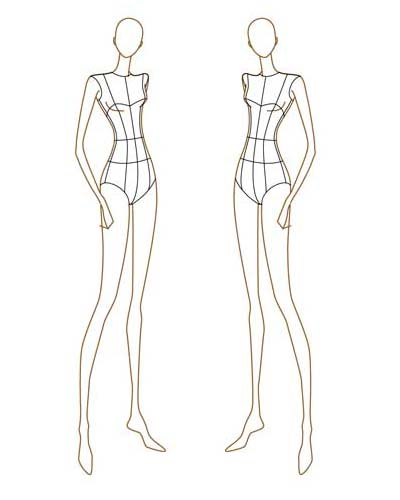 Fashion design body sketches fashion style share for Fashion designer drawing template