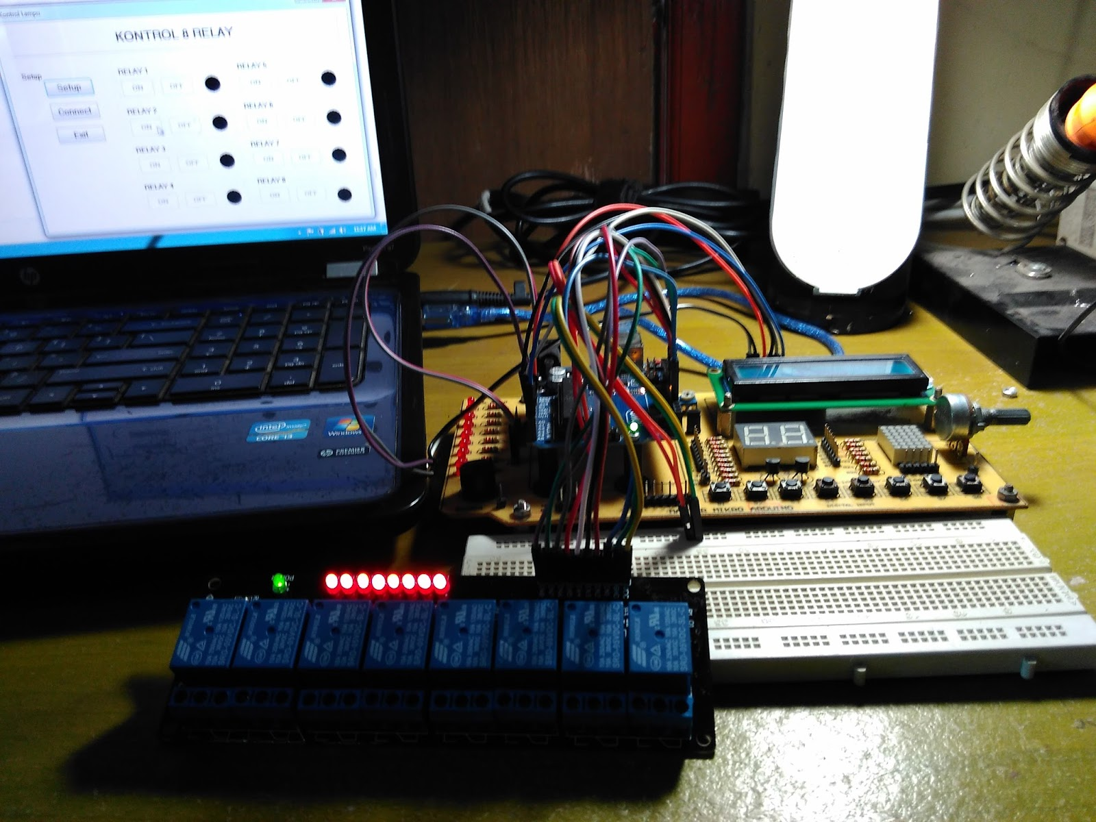 Project III - 6  Control 8 Channel Relay with Delphi Apps on PC