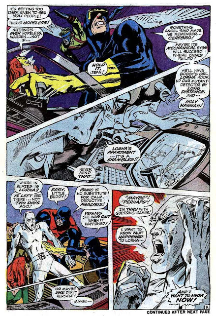 X-men v1 #57 marvel comic book page art by Neal Adams