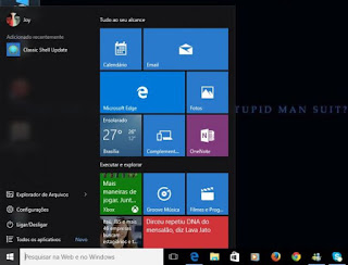 Menu Iniciar do Windows 10