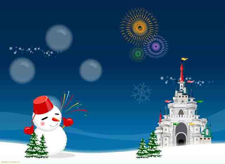 yeniyılda kardan adam resimleri