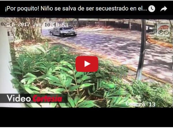 Robo de vehículo y secuestro en el Country Club grabado en Video