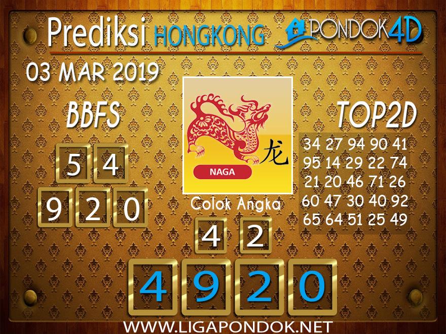 Prediksi Togel HONGKONG PONDOK4D 03 MARET 2019