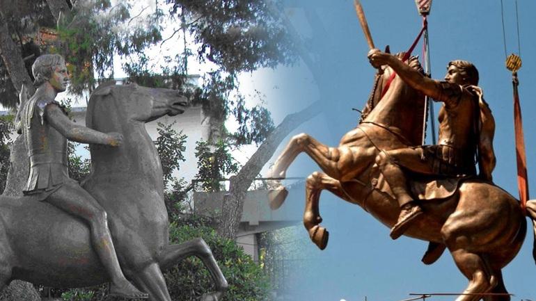 Το άγαλμα του Μεγάλου Αλεξάνδρου πεταμένο σε ένα προαύλιο επί 24 χρόνια