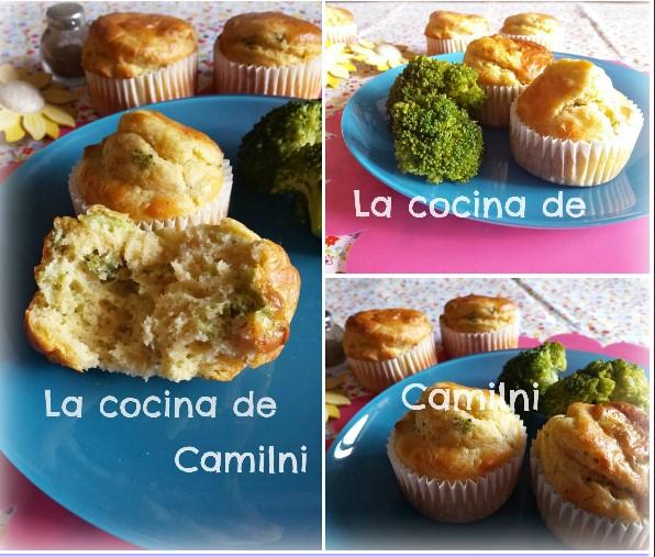 Muffins de brócoli y gambas (La cocina de Camilni)