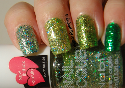 12 Days of Christmas Nail Art Challenge | Day 9 | Glitter