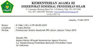 Hanya 4 Mata Pelajaran PPG Yang Akan DiUjikan Pada Tanggal 20-25 Mei 2019