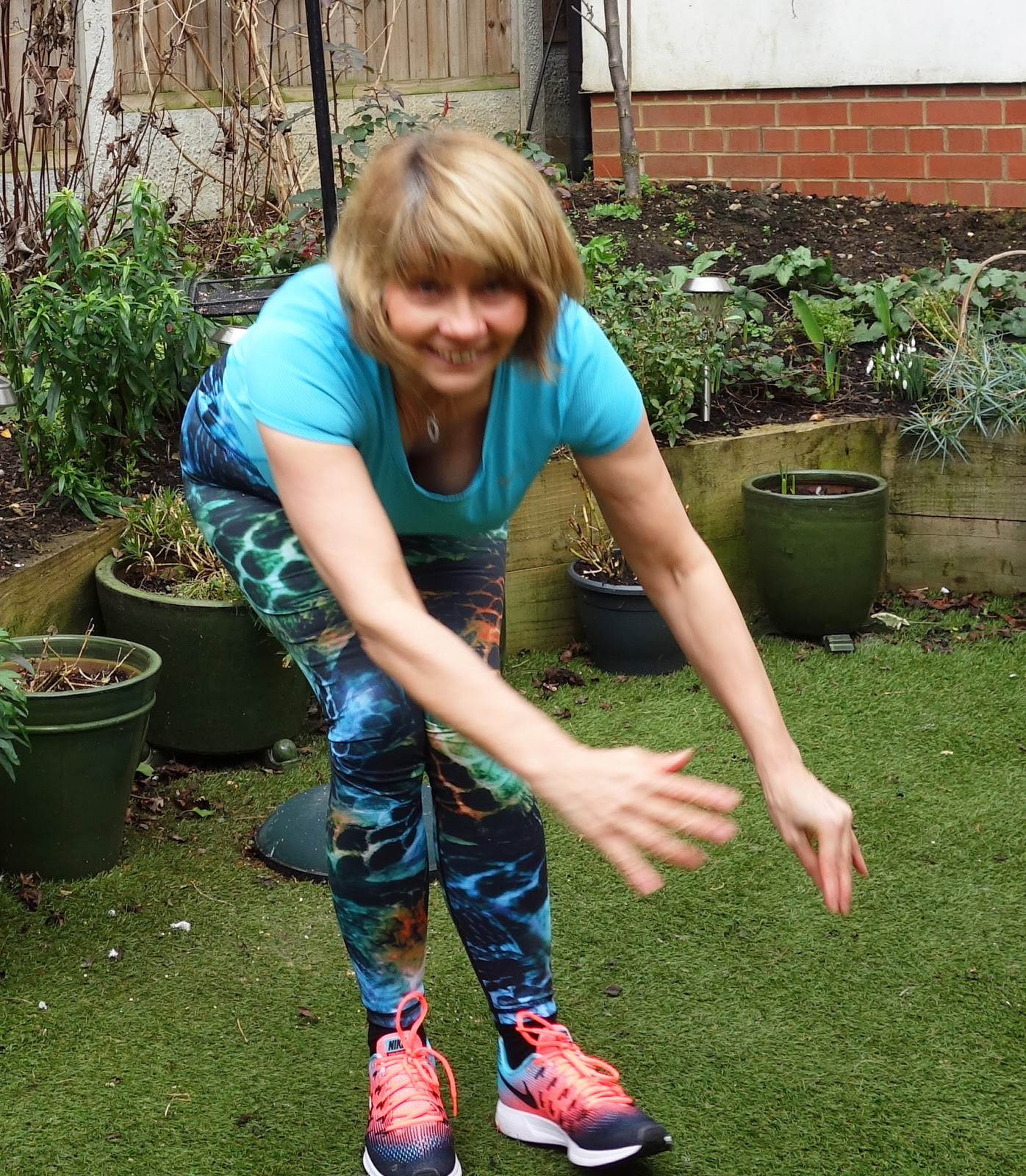 Mystical Mermaid leggings and Nike Air Zoom Pegasus shoes worn by over-40s blogger Gail Hanlon