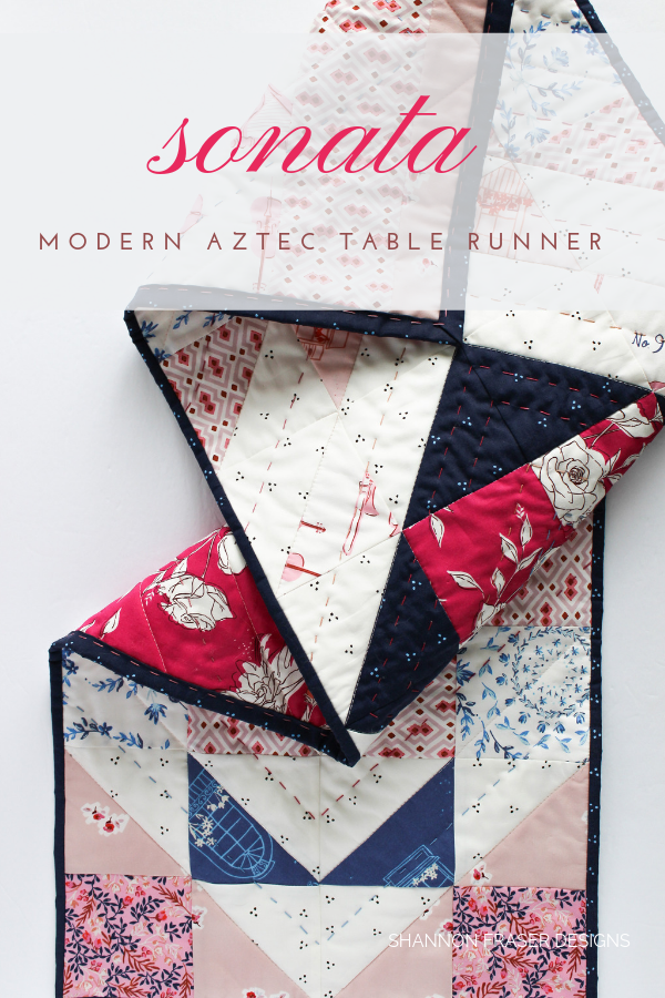 Sonata Modern Aztec Table Runner | Shannon Fraser Designs