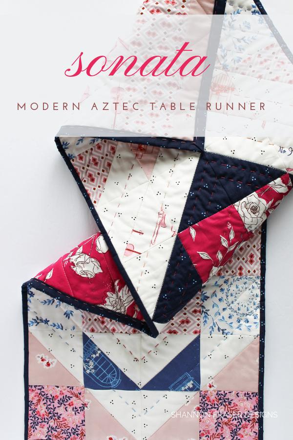 Sonata Modern Aztec Table Runner | Shannon Fraser Designs