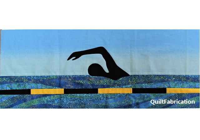 In the Swimming Pool Row by QuiltFabrication