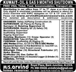 Oil & Gas 9 months Shutdown jobs in Kuwait