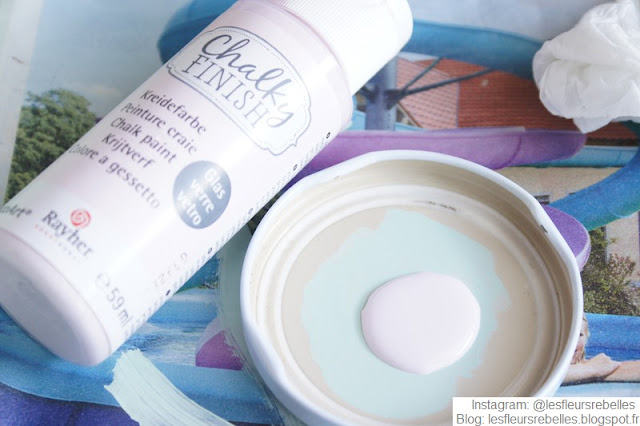 Peinture Chalky Finish Rayher rose patel effet craie