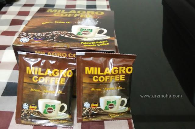 milagro coffee, kopi patawali, kopi kesihatan, kopi mencegah dan merawat kencing manis darah tinggi, kopi tidak manis,