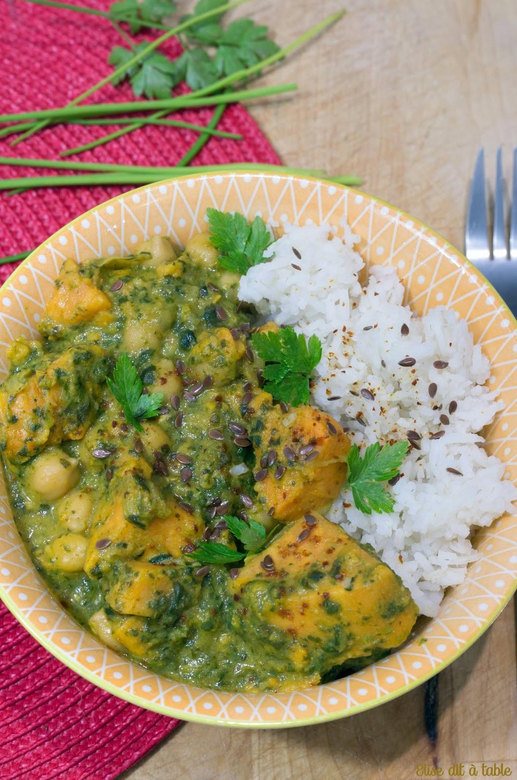 recette plat curry végétarien