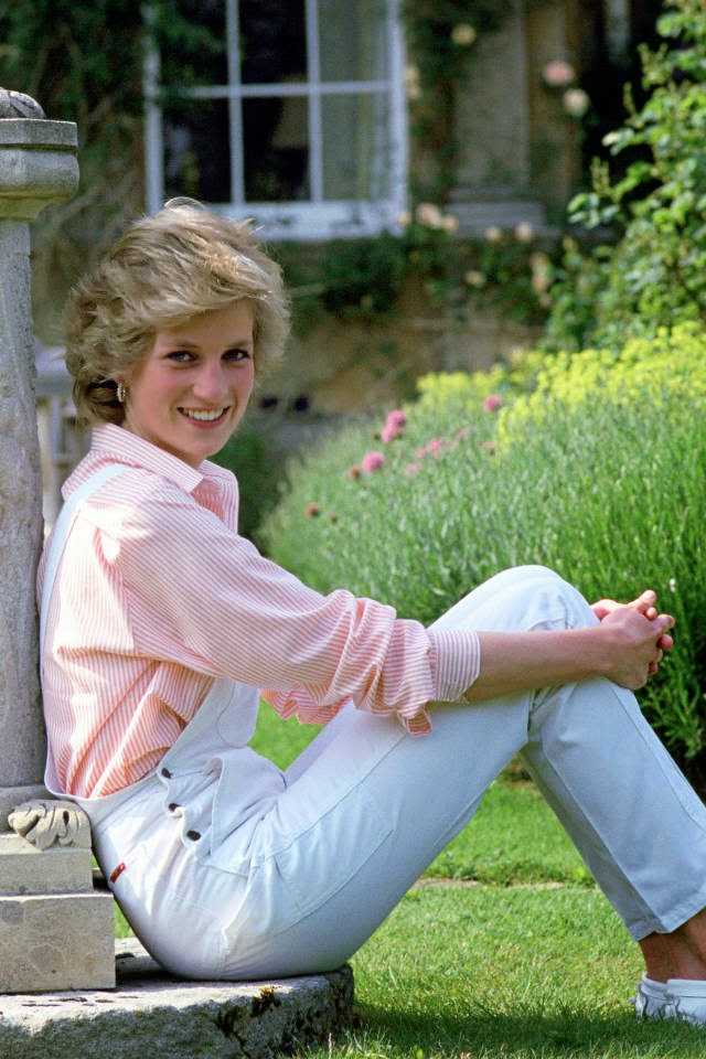 Princess Diana in overalls