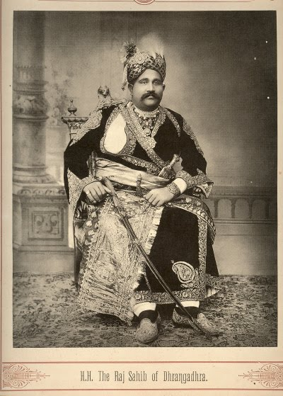 The Raj Sahib of Dhrangadhra - Late 19th Century Photograph