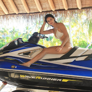 Disha Patani Looking Hot on jet Ski