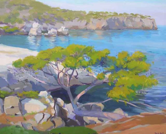 Pelegero Agustí, Costa de Deià, Mallorca en pintura, Mallorca pintada, Paisajes de Mallorca