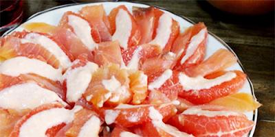 Postre de Pomelo en Salsa de Limon receta