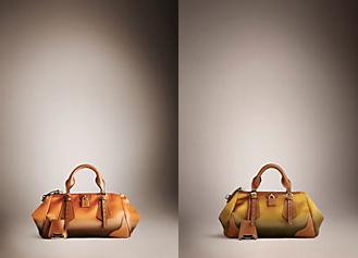 "Burberry SS13 Dégradé Duchess Satin and Leather ""Blaze"" bag Spring/Summer 2013"