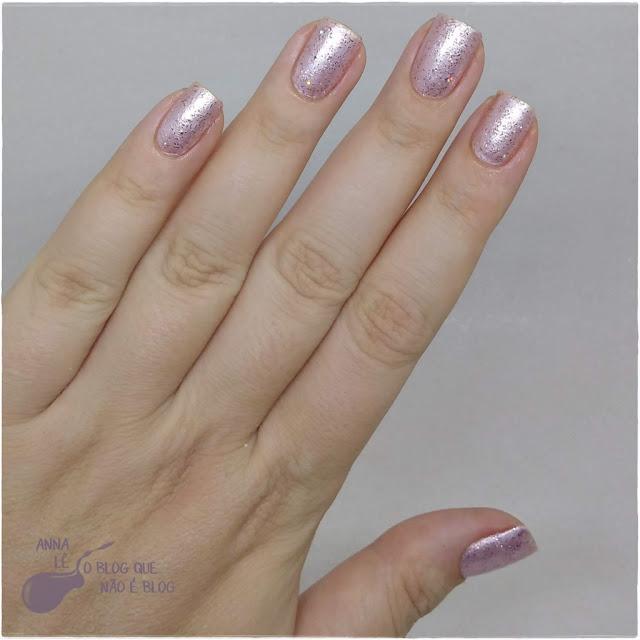 Granulado Rosé Risqué Esmalte Glitter Rosa Colorido