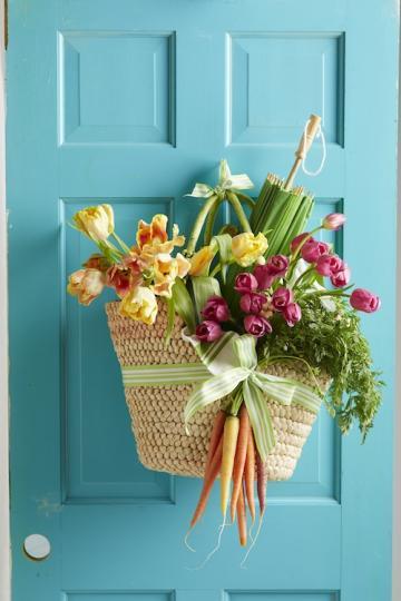 Decoraciones de primavera para puertas - Adornos para puertas ...