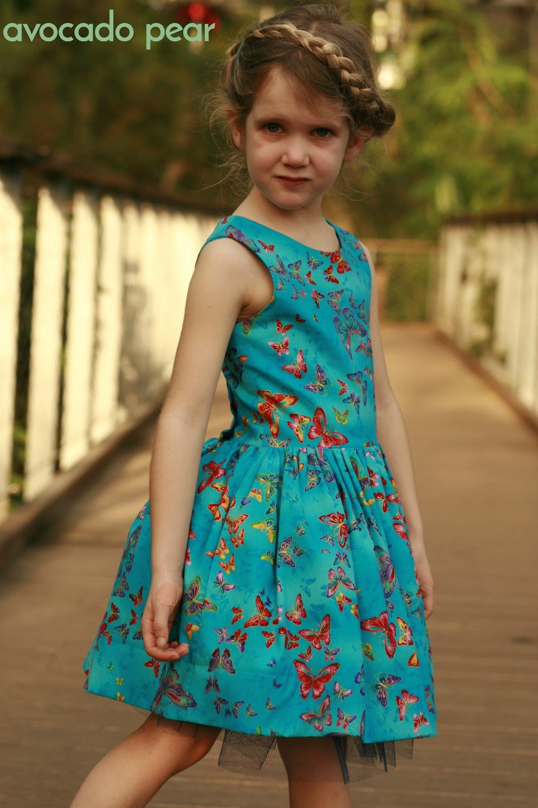 girls butterfly party dress