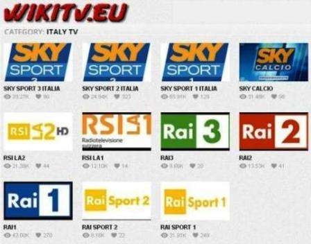 Watch Live Television Channels Streaming With Out Any Pay - Live Online TV. Offre la visione di Canali TV, di Sport e Calcio in diretta streaming da tutto il mondo.